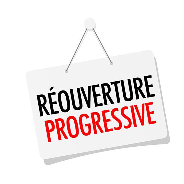 Réouverture progressive